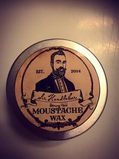 Moustache Wax-Cedarwood is guaranteed to hold your moustache in place or your money back! This stuff is strong to last through the whole day in any weather & easy apply. Made with all natural Cedarwood essential oil to give scent of manliness: wood, spice, fresh outdoors. 1oz tin. $14.00 (free shipping)