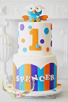 Hoot birthday cake by www.onesweetgirl.com.au
