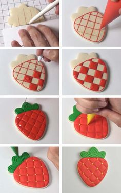 How to make 30 creative cookie designs with one cookie cutter. Decorate your favorite movie character cookies with royal icing. Sugar Cookie Royal Icing, Iced Sugar Cookies, Cookie Frosting, Cute Cookies, Owl Cookies, Flower Cookies, Cookie Designs, Cookie Ideas, Strawberry Cookies