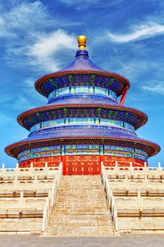 A Ming temple, Temple of Heaven or Tian tan was built by the Yongle Emperor, who also built the Forbidden City, as a stage for the important rituals performed by the emperor, or Son of Heaven.