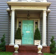 Great turquoise front door!
