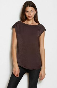 Studded Shoulder TopOnline Exclusive - Shirts & Blouses - Womens - Armani Exchange