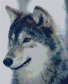 Cross Stitch | Wolf xstitch Chart | Design  WISH I could SEE to do this in cross stitch!!! LOVE IT!!!