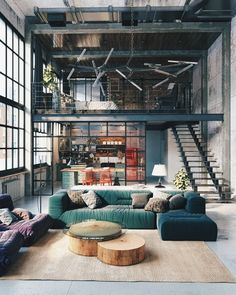 Let's Meet The Interior Loft Design That's Making a Statement Find o. Let's Meet The Interior Loft Design That's Making a Statement Find out how this int Rustic Industrial Decor, Industrial Interior Design, Industrial House, Industrial Interiors, Industrial Apartment, Industrial Lighting, Rustic Chic, Modern Lighting, Industrial Style