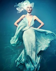 mermaid. photographed by Jacques Dequeker