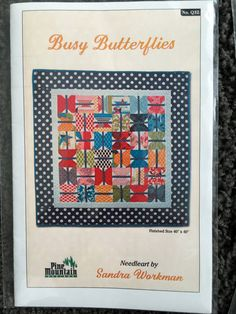Busy Butterflies Quilt Pattern by Sandra Workman UC by Vntgfindz