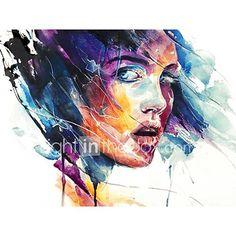 ručně malované abstraktní / abstraktní portrét olejomalba, moderní panelové plátno olejomalba 5494553 2018 – Kč1 362