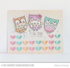 I'm Owl Yours Stamp Set and Die-namics, Stitched Heart Grid Die-namics, Tag Builder Blueprints 5 Die-namics - Melania Deasy  #mftstamps