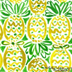 "Nothing says ""southern resort"" like this pineapple Lilly Pulitzer print! Lilly Pulitzer Patterns, Lilly Pulitzer Prints, Lily Pulitzer Wallpaper, Arts And Crafts, Diy Crafts, Pretty Patterns, Mellow Yellow, Iphone Wallpaper, Illustration"