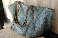 enhabiten tote made from vintage nets and tent