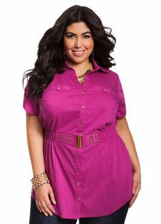 Ashley-Stewart-Womens-Plus-Size-Studded-Faux-Belt-Top-Wicked-Berry-12-0