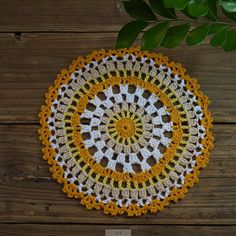 20pcs colorful handmade crocheted doilies crochet by ColoredHome