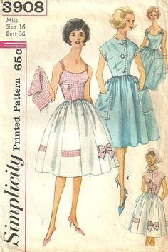 Simplicity 3908 Vintage 60s Sewing Pattern by studioGpatterns, $9.50