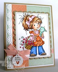 Hello Friend by girlydecou - Cards and Paper Crafts at Splitcoaststampers