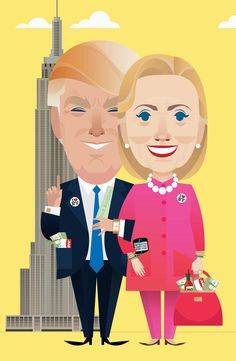 Hillary & Donald: Separated at Birth? The two candidates who love to hate each other are surprisingly alike.   Read more: http://www.politico.com/magazine/story/2016/07/2016-humor-satire-donald-trump-hillary-clinton-chelsea-handler-susanna-wolff-similarities-214046#ixzz4FXmcMOQc