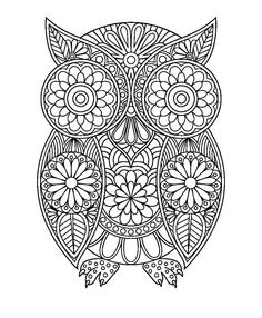 Bildergebnis für cristina mcallister coloring pages Owl Coloring Pages, Free Adult Coloring Pages, Coloring Books, Mandala Art, Shrink Art, Techniques Couture, Printed Pages, Owl Art, Mosaic Patterns