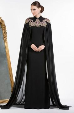 Dubai Kaftan Dress Royal Blue Muslim Evening Dresses Long Sleeves Abendkleider 2017 Mermaid Long Party Dress With Cape Abaya Fashion, Muslim Fashion, Modest Fashion, Fashion Dresses, Hijab Evening Dress, Evening Dresses, Formal Dresses, Elegant Dresses, Mode Abaya