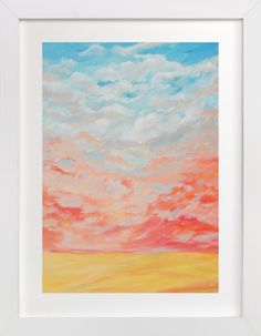 """Reddish Wind"" - Art Print by Helen H Wu in beautiful frame options and a variety of sizes."