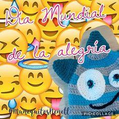 No hay medicina que cure lo que no cura la felicidad.- Gabriel García Márquez. Ríe, abraza y disfruta por qué hoy es el #DíaMundialDeLaAlegría 😀 - - - - #happy #happytime #happiness #alegria #cheerfully #MuñequitosNenetl #day #emoji #emoji4emoji #mexicostyle #cdmx_oficial #artesanal #mexico #crochet #hechoamano  #igersmexico #mextagram #mexigers #ig_mexico #mexicoanadando #loves_mexico #mexico