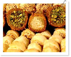 baclava... find some recipes on our website ;)     http://www.pilotguides.com/tv_shows/planet_food/food_guides/lebanon/recipe_baclava.php