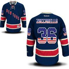 Rangers  36 Mats Zuccarello Third Navy Blue National Flag Jersey Men s  Hockey a88025cd6