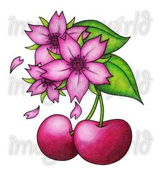 Cherries n Blossoms Tattoo