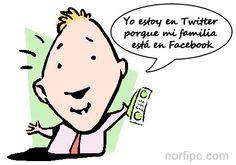 Yo estoy en Twitter, solo porque mi familia está en Facebook
