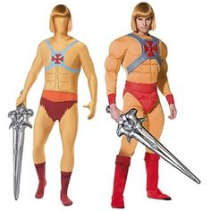 Best choice of He-Man - Prince Adam - Costumes for Adults from the cartoon Masters of the Universe.
