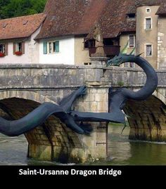 Dragon bridge | Saint Ursanne, Switzerland