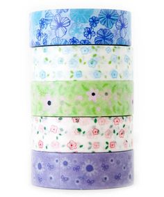 Spring Bouquet Washi Tape - Set of Five #zulily #zulilyfinds