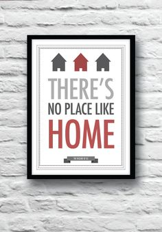 The Wizard of Oz quote print There's No Place Like by Redpostbox, £8.00