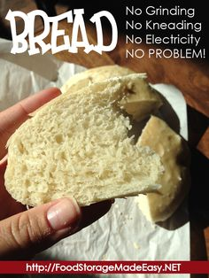 BREAD:  No Grinding, No Kneading, No Electricity, No Problem!