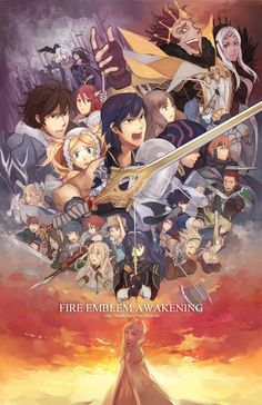 Fire Emblem: Awakening - Made by Feesh in pixiv. So cool! It looks like a movie poster.