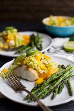 Grilled White Fish with Jalapeno Mango ColeslawReally nice  Mein Blog: Alles rund um Genuss & Geschmack  Kochen Backen Braten Vorspeisen Mains & Desserts!