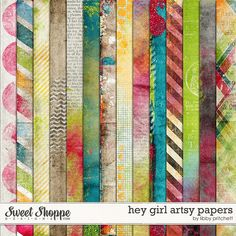 Sweet Shoppe Designs :: Paper Packs :: Hey Girl Artsy Papers by Libby Pritchett