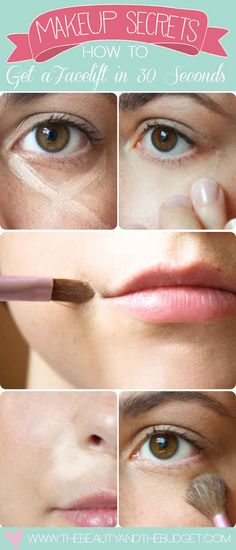 Or if you're more a do-the-minimum sort of person when it comes to makeup, just apply it under your eyes, at the corners of your mouth, and next to your nose.