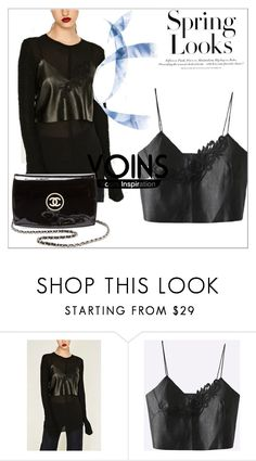 """""""Untitled #99"""" by qalliulasey ❤ liked on Polyvore featuring Chanel and H&M"""