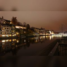 Altstadt Zürich and Limmat  #zürich #zürichcity #zurichcity #zürichaltstadt #zuricholdtown #zurich_switzerland #schweiz #switzerland… Night Lights, Night Photography, Instagram, Old Town, Switzerland
