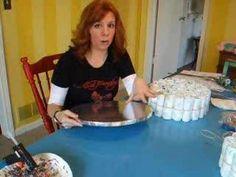 diaper cake tutorial...really good!