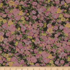 Cotton Lawn Prints Garden Pink from fabric.com
