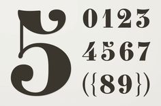 Number Fonts: 10 Stylish Examples                                                                                                                                                     More