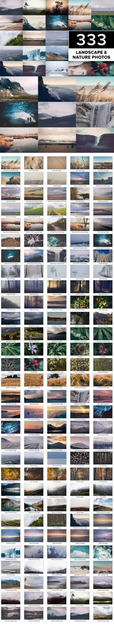 LandscapePLUS – 333 Creative Landscape and Nature Photos – Store Value: $2997!! This unique photo bundle is aimed at all designers, agencies or photo lovers who are bored of uninspired stock photos. DIVERSE SUBJECTS: Aurora / Basalt / Beach / Canyon / Cave / Clouds / Coast / Glacier / Ice / Lake / Lifestyle / Light / Mountains / Morning / Nature / Northern Lights / Ocean / Road / Rocks / Sea / Sand / Sky / Snow / Sunrise / Sunset / Tree / Travel / Water / Waterfall / Waves ...