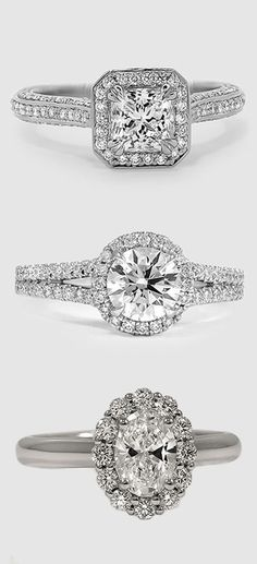 Which of these dazzling halo diamond engagement rings is your favorite?