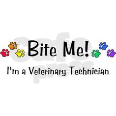 I'm a Veterinary Technician 16 oz Stainless Steel Travel Mug Bite Me Vet Tech - Stainless Steel Travel Mug by VetTechDesigns - CafePress Vet Tech Quotes, Tech Humor, Vet Tech Scrubs, Going Back To College, Applied Science, Veterinary Medicine, Insulated Travel Mugs, Veterinary Technician, Cat Grooming