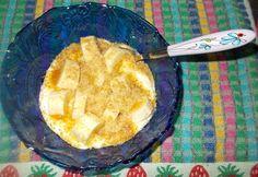 Receitas de cozinha: Ideia de lanche rápido e saudável com iogurte bana...