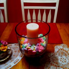 ok, so now i actually need a pretty candle to put into my trifle dish as decoration!
