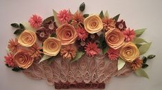 a flower basket with a twist
