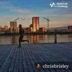 Lovely #6amCLUB running shot from @6amCLUB founder Chris as he runs the River Thames in Wandsworth.