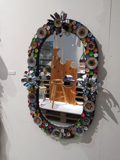 Mirror made using aluminum cans and scissors