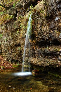 Falling Spring Waterfall in the Missouri Ozarks.